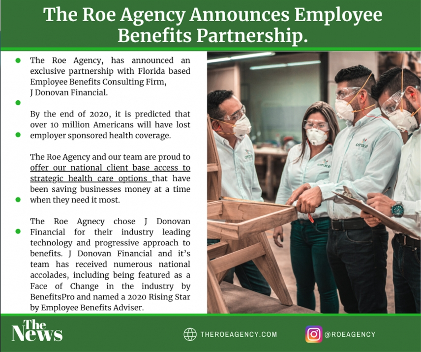 The Roe Agency Announces Employee Benefits Partnership!